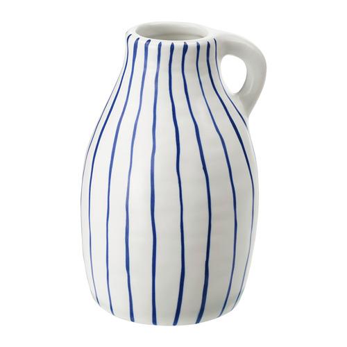 GODTAGBAR - 花瓶, 陶瓷 白色/藍色   IKEA 香港及澳門 - PE745648_S4