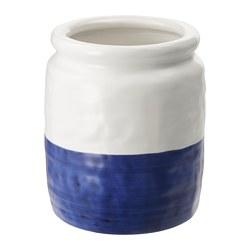 GODTAGBAR - 花瓶, 陶瓷 白色/藍色 | IKEA 香港及澳門 - PE745650_S3