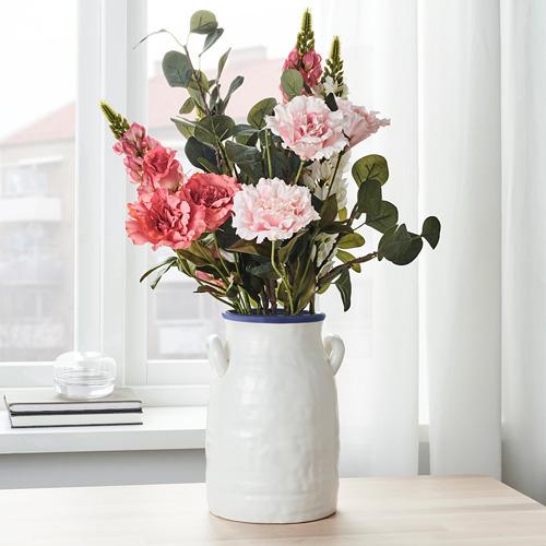 GODTAGBAR - 花瓶, 陶瓷 白色/藍色 | IKEA 香港及澳門 - PE745653_S4