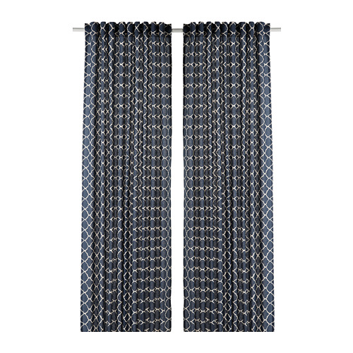 CITRUSTRÄD - curtains, 1 pair, blue/white   IKEA Hong Kong and Macau - PE799560_S4