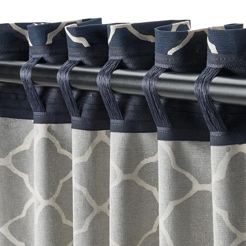 CITRUSTRÄD - curtains, 1 pair, blue/white   IKEA Hong Kong and Macau - PE799563_S4