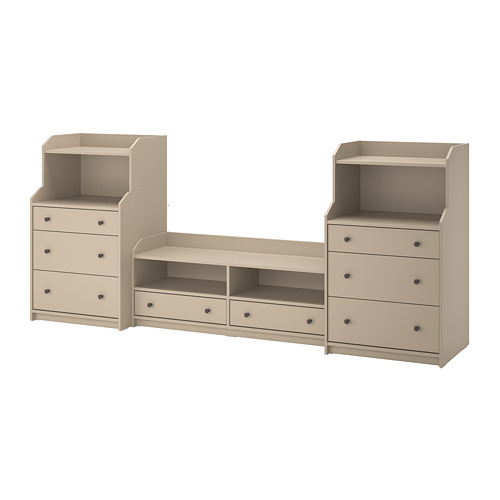 HAUGA TV/storage combination