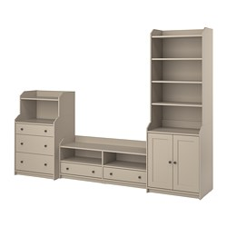 HAUGA - TV/storage combination, beige | IKEA Hong Kong and Macau - PE799585_S3