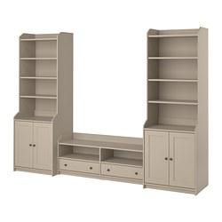 HAUGA - TV/storage combination, beige | IKEA Hong Kong and Macau - PE799586_S3