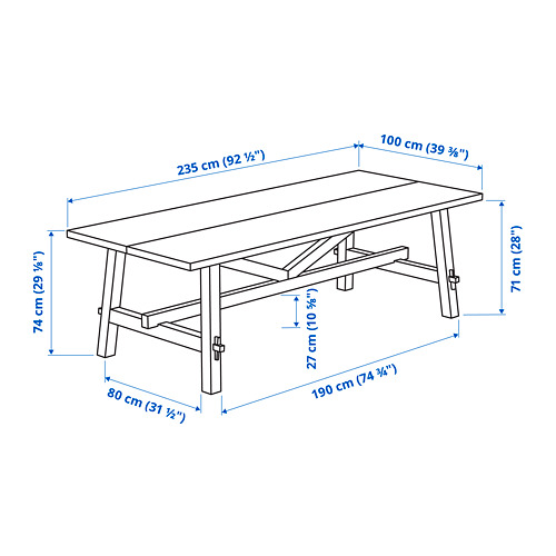 SKOGSTA - dining table, acacia | IKEA Hong Kong and Macau - PE799598_S4