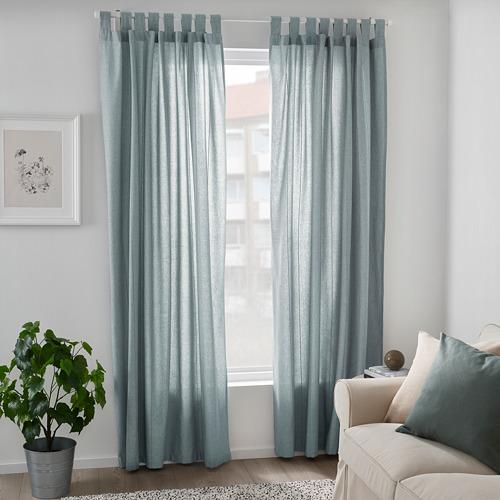 LENDA - 窗簾連簾帶,一對, 灰湖水綠色 | IKEA 香港及澳門 - PE799613_S4