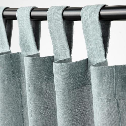 LENDA - 窗簾連簾帶,一對, 灰湖水綠色 | IKEA 香港及澳門 - PE799612_S4