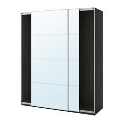 PAX - 趟門衣櫃, 棕黑色/Auli 鏡面玻璃 | IKEA 香港及澳門 - PE705442_S3