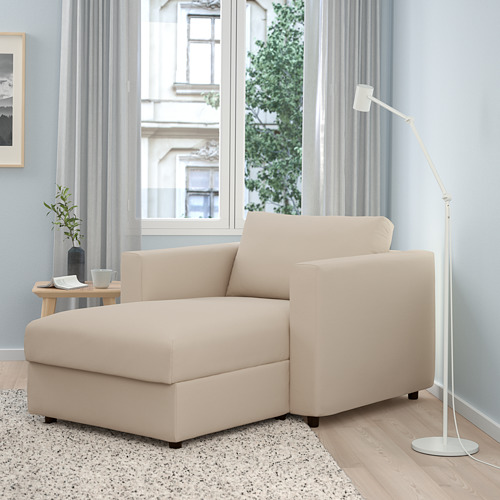 VIMLE - 躺椅, Hallarp 米黃色 | IKEA 香港及澳門 - PE799703_S4
