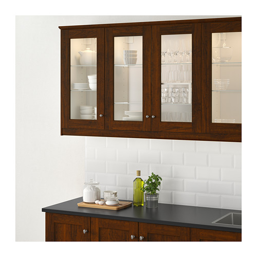EDSERUM - glass door, wood effect brown | IKEA Hong Kong and Macau - PE657844_S4