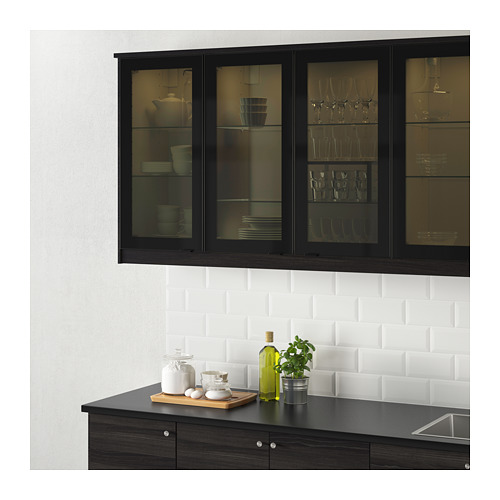 JUTIS - glass door, smoked glass/black | IKEA Hong Kong and Macau - PE657851_S4