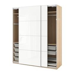 PAX - 衣櫃, 染白橡木紋/Färvik 白色玻璃 | IKEA 香港及澳門 - PE705543_S3