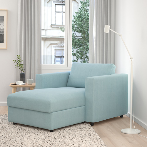 VIMLE - chaise longue, Saxemara light blue | IKEA Hong Kong and Macau - PE799714_S4