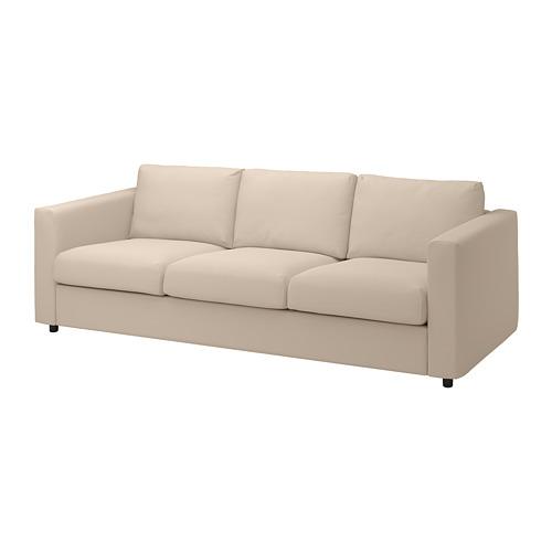 VIMLE - cover for 3-seat sofa, Hallarp beige | IKEA Hong Kong and Macau - PE799732_S4