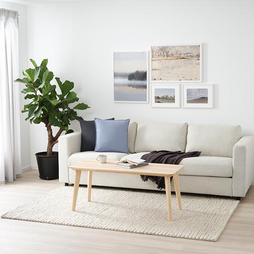HJORTSVANG - 地氈, 手製/灰白色   IKEA 香港及澳門 - PE799760_S4