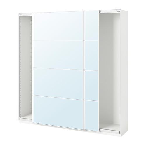 PAX - 趟門衣櫃, 白色/Auli 鏡面玻璃 | IKEA 香港及澳門 - PE705567_S4