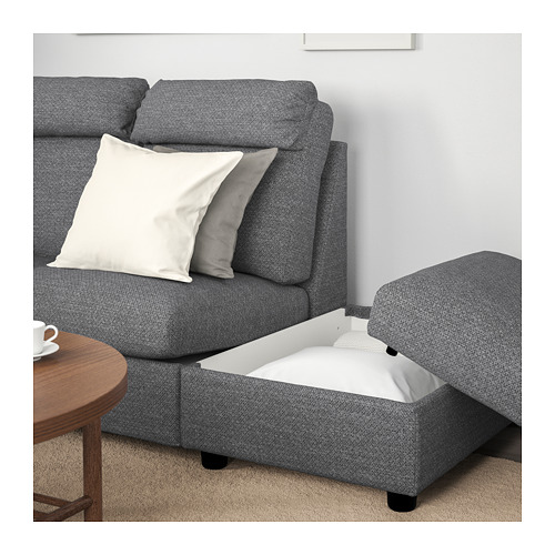 LIDHULT - corner sofa, 5-seat, with open end/Lejde grey/black | IKEA Hong Kong and Macau - PE705596_S4