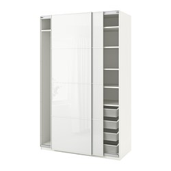 PAX - wardrobe, white/Färvik white glass | IKEA Hong Kong and Macau - PE705609_S3
