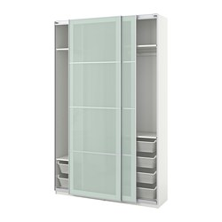 PAX - 衣櫃, 白色/Sekken 磨砂玻璃 | IKEA 香港及澳門 - PE705632_S3