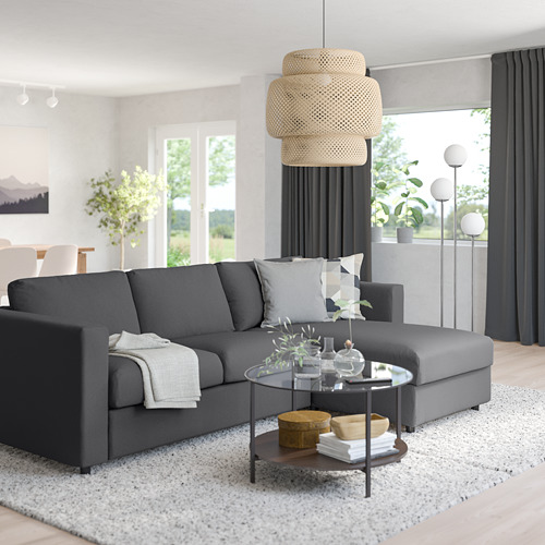 VIMLE - 3-seat sofa with chaise longue, Hallarp grey | IKEA Hong Kong and Macau - PE799802_S4