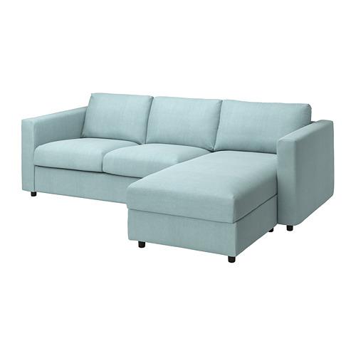 VIMLE - 三座位梳化連躺椅用布套, Saxemara 淺藍色 | IKEA 香港及澳門 - PE799789_S4