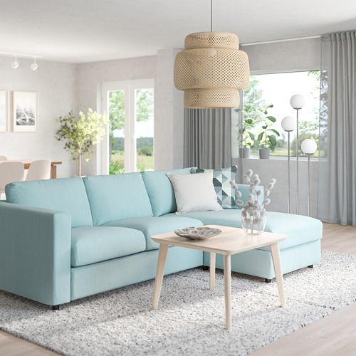 VIMLE - 3-seat sofa-bed with chaise longue, Saxemara light blue   IKEA Hong Kong and Macau - PE799804_S4