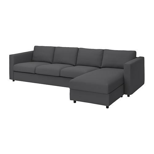 VIMLE - cover 4-seat sofa w chaise longue, Hallarp grey | IKEA Hong Kong and Macau - PE799809_S4