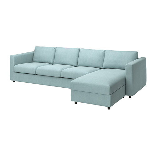 VIMLE - cover 4-seat sofa w chaise longue, Saxemara light blue | IKEA Hong Kong and Macau - PE799798_S4