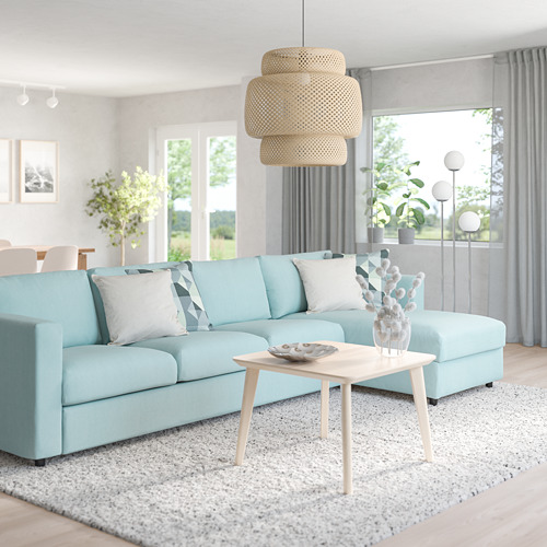VIMLE - 4-seat sofa with chaise longue, Saxemara light blue | IKEA Hong Kong and Macau - PE799799_S4