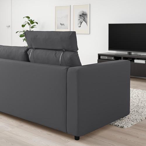 VIMLE - 三座位梳化, 連頭枕/Hallarp 灰色 | IKEA 香港及澳門 - PE799852_S4