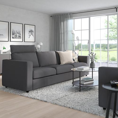 VIMLE - 三座位梳化, 連頭枕/Hallarp 灰色 | IKEA 香港及澳門 - PE799853_S4