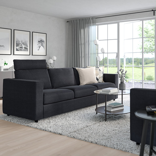 VIMLE - 3-seat sofa, with headrest/Saxemara black-blue   IKEA Hong Kong and Macau - PE799864_S4