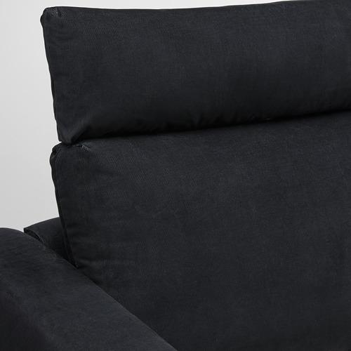 VIMLE - 3-seat sofa, with headrest/Saxemara black-blue   IKEA Hong Kong and Macau - PE799856_S4