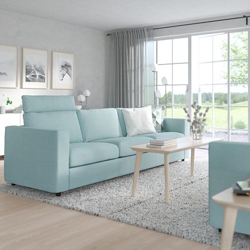 VIMLE - 三座位梳化, 連頭枕/Saxemara 淺藍色   IKEA 香港及澳門 - PE799860_S4