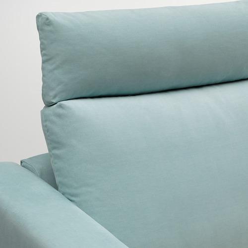 VIMLE - 三座位梳化, 連頭枕/Saxemara 淺藍色   IKEA 香港及澳門 - PE799861_S4