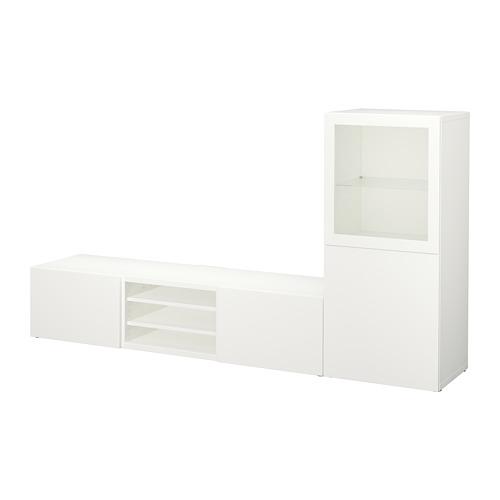 BESTÅ TV storage combination/glass doors