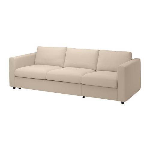 VIMLE - cover for 3-seat sofa-bed, Hallarp beige | IKEA Hong Kong and Macau - PE799895_S4