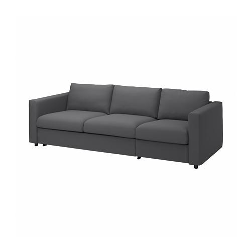 VIMLE - 3-seat sofa-bed, Hallarp grey | IKEA Hong Kong and Macau - PE799902_S4