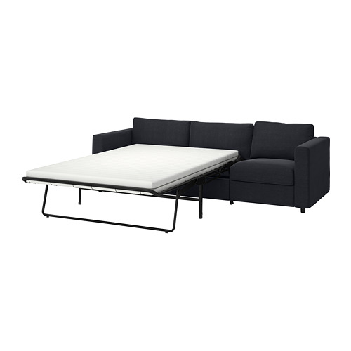 VIMLE - 三座位梳化床, Saxemara 藍黑色   IKEA 香港及澳門 - PE799906_S4