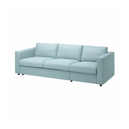 VIMLE - cover for 3-seat sofa-bed, Saxemara light blue   IKEA Hong Kong and Macau - PE799908_S4