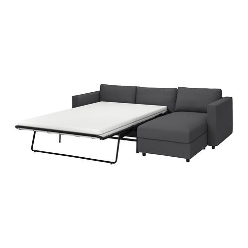 VIMLE - 3-seat sofa-bed with chaise longue, Hallarp grey   IKEA 香港及澳門 - PE799921_S4