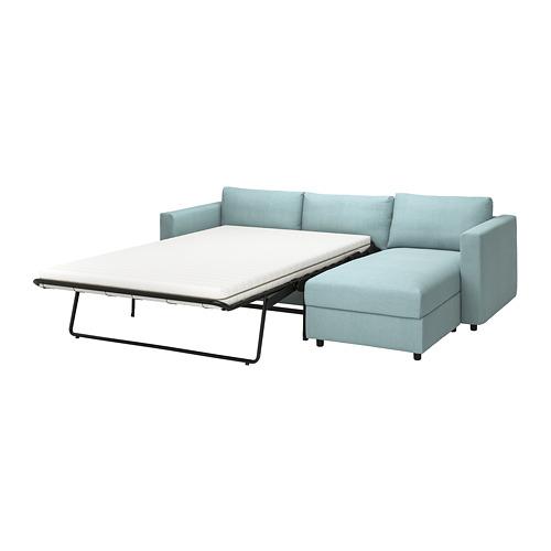 VIMLE - 3-seat sofa-bed with chaise longue, Saxemara light blue   IKEA Hong Kong and Macau - PE799932_S4