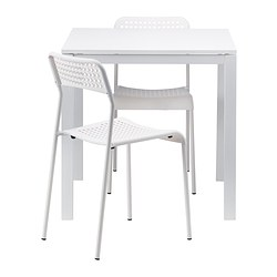 MELLTORP/ADDE - table and 2 chairs, white/white | IKEA Hong Kong and Macau - PE388054_S3