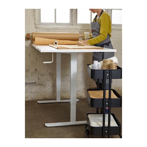 SKARSTA - 升降式書檯, 120x70, 白色 | IKEA 香港及澳門 - PH138774_S4
