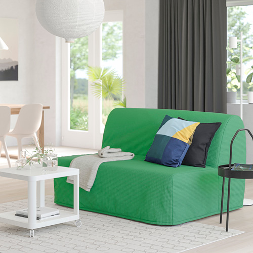 LYCKSELE HÅVET - 2-seat sofa-bed, Vansbro bright green | IKEA Hong Kong and Macau - PE799976_S4