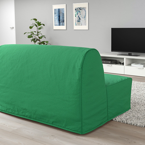 LYCKSELE HÅVET - 2-seat sofa-bed, Vansbro bright green | IKEA Hong Kong and Macau - PE799980_S4