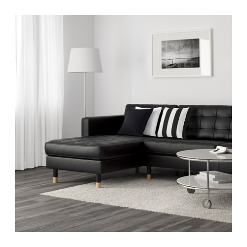 LANDSKRONA - 5-seat sofa, with chaise longues/Grann/Bomstad black/wood | IKEA Hong Kong and Macau - PE599172_S4