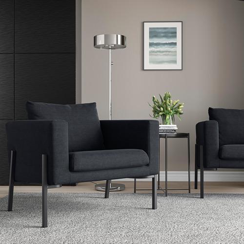 KOARP - 扶手椅, Saxemara 藍黑色/黑色   IKEA 香港及澳門 - PE800029_S4