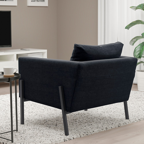 KOARP - 扶手椅, Saxemara 藍黑色/黑色   IKEA 香港及澳門 - PE800033_S4