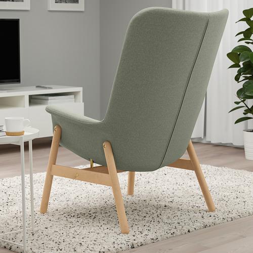 VEDBO - high-back armchair, Gunnared light green | IKEA Hong Kong and Macau - PE800038_S4